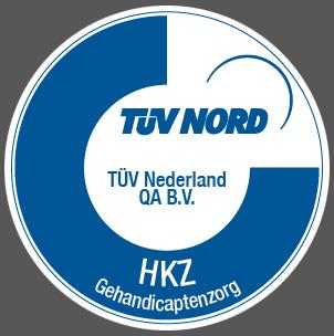 TUV HKZ Gehandicaptenzorg logo